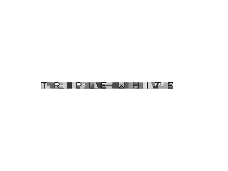 Triple White Logo